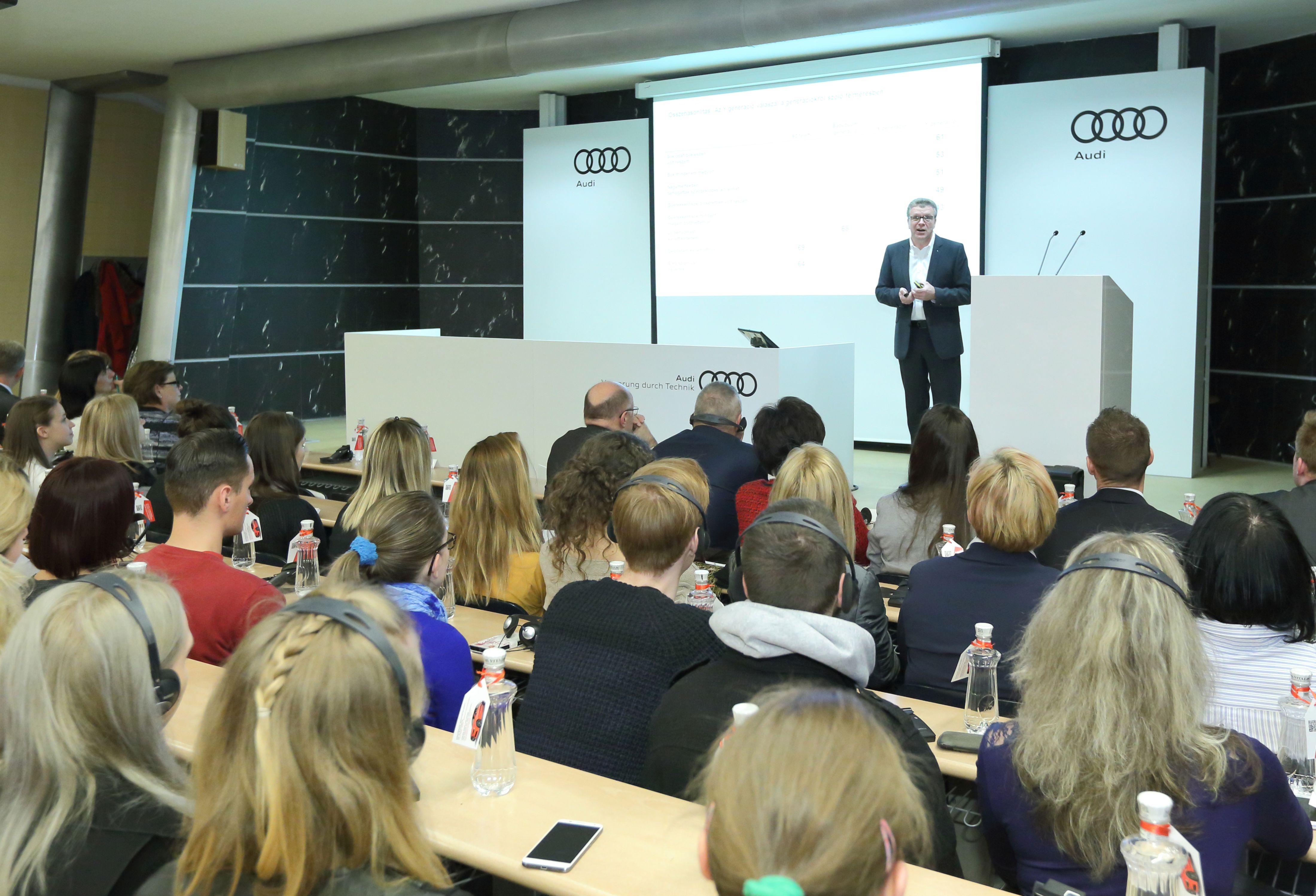Generációmenedzsment az Audi példáján keresztül - Prof. h.c. Thomas Sigi előadása